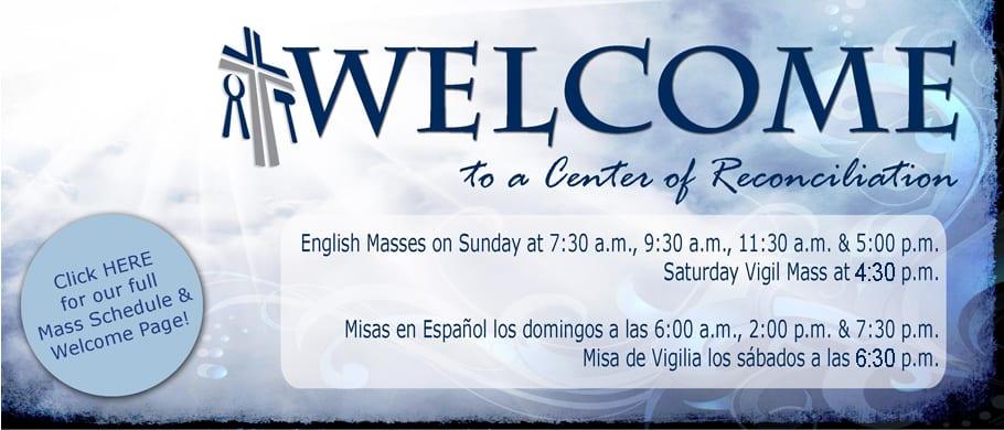 Welcome to the Center of reconciliation - Saint Thomas the Apostle Catholic Church